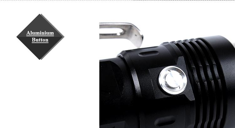 Aluminum Alloy Led Torch Light Handled Most Powerful Flashlight ...