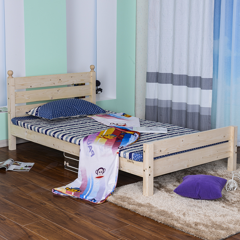 SC0249 dormitorio diferente tamaño cama de madera maciza marco ...