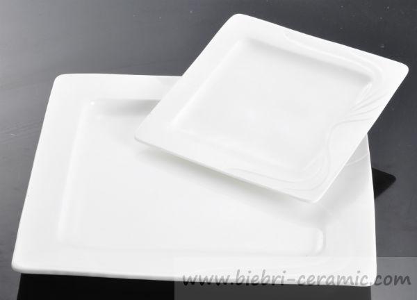 Wholesale Restaurant Super White Excellent Quality Ceramic Porcelain Fine Bone China Square Shaped Dinner Serving Plates & Wholesale Restaurant Super White Excellent Quality Ceramic Porcelain ...