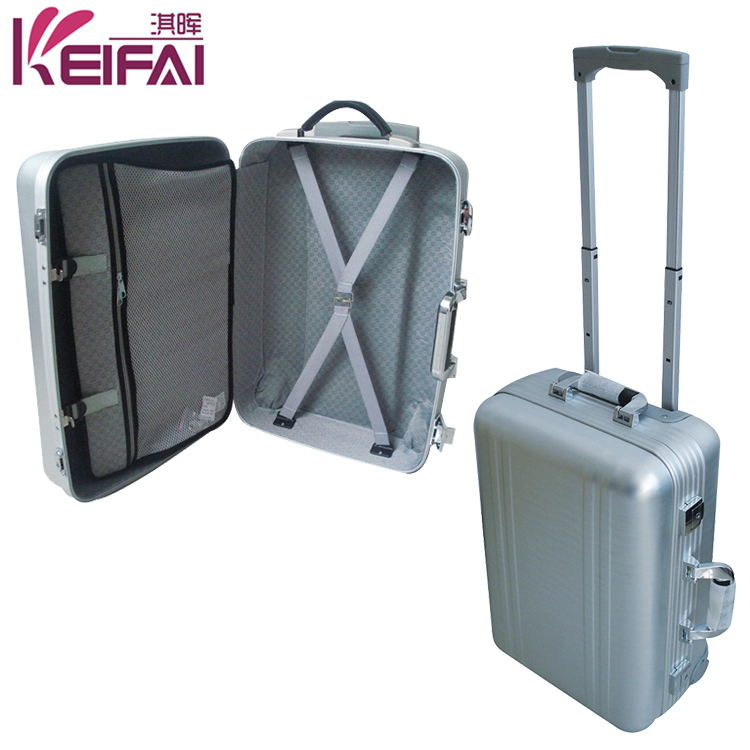 Multifunction Business Silver Color Royal Polo Trolley Luggage