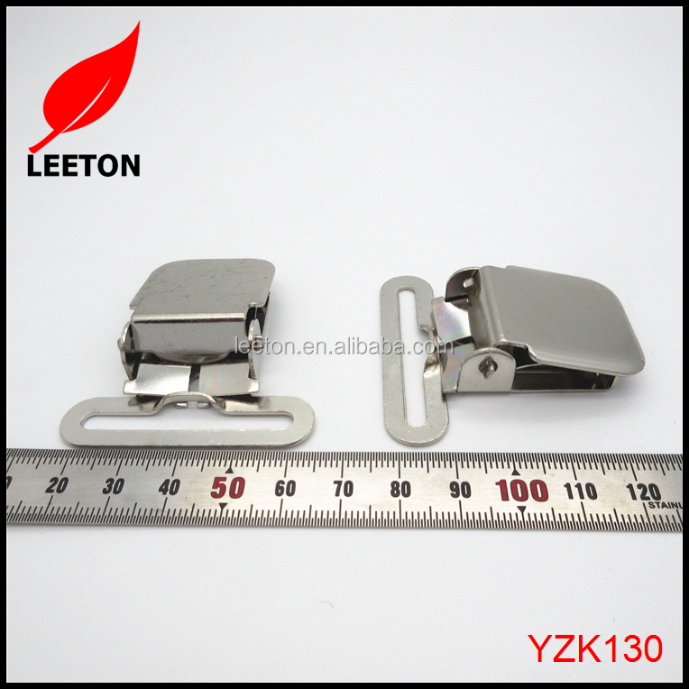Factory supply 40mm strong metal suspender clip brace clip