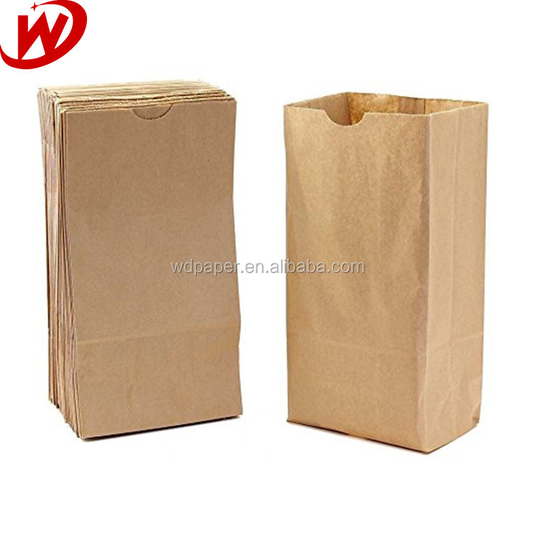 China Suppliers Latest Recycled Kraft Take Away Brown Paper Lunch Bag