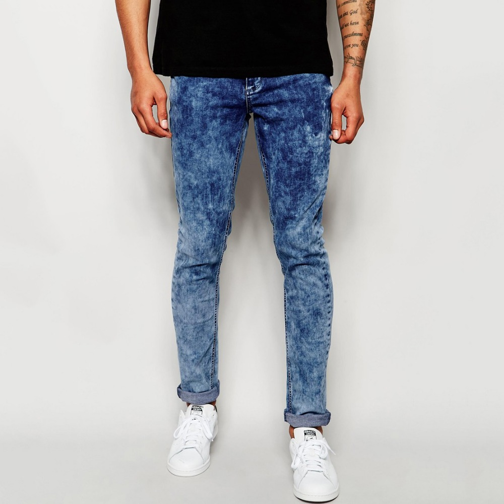 fashion pantlones plain best selling good quality slim jeans
