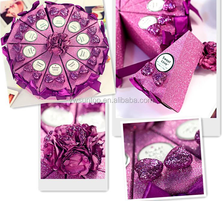 Romántico Púrpura En Forma De Pastel De Caramelo Caja De Regalo De ...