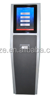 touch screen ticket dispenser kiosk queue management system
