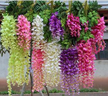 Fabrika Fiyat Toptan çin Yapay çiçek Dekor Düğün Yapay Wisteria