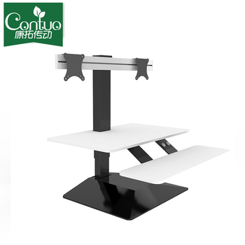 Mount It Sit Stand Workstation Standing Desk Converter With Dual