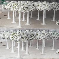 top quality mini sakura tree wedding table decorative white artificial cherry blossom tree