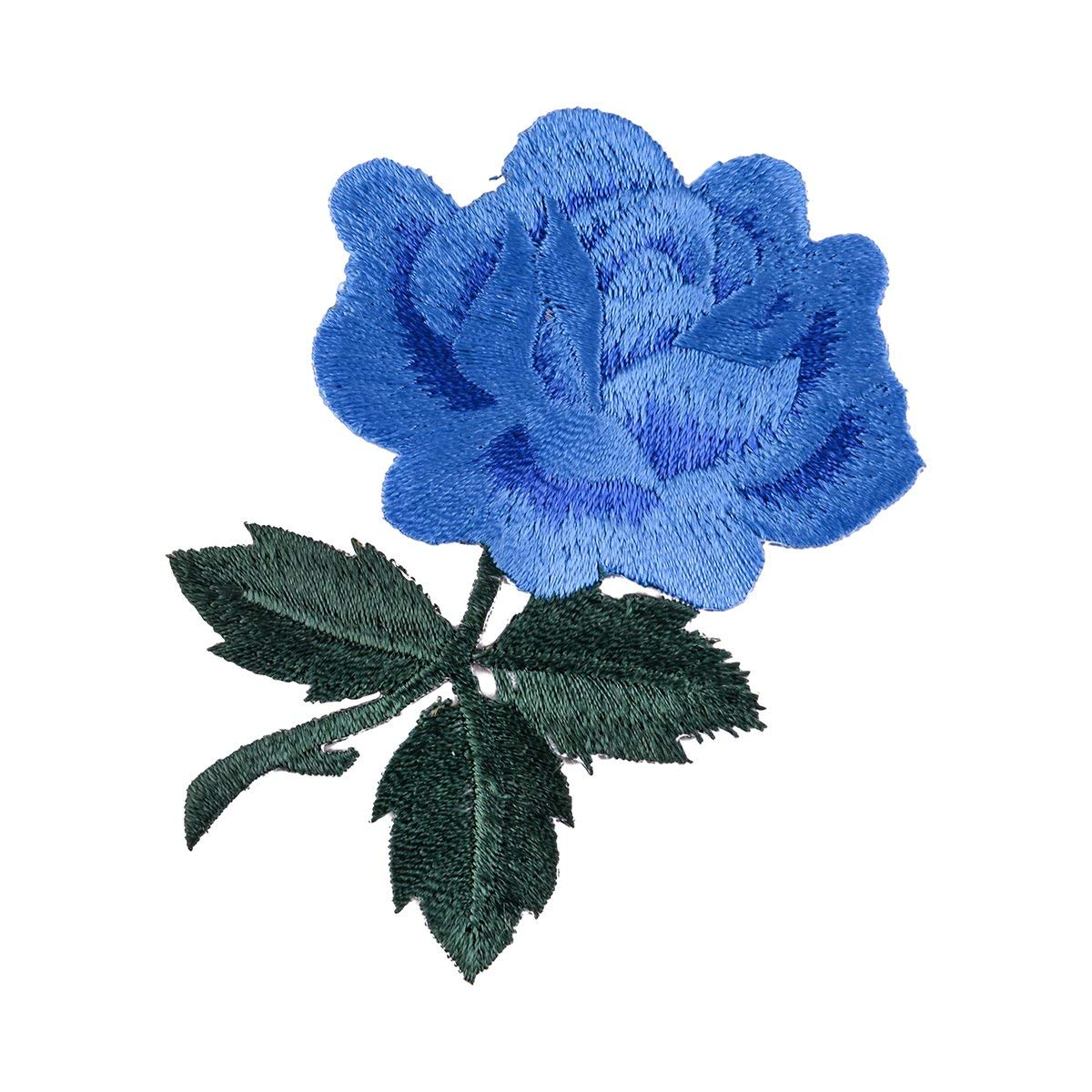 Rose Patch Iron on Patches, Flower Applique Patches, Beautiful Rose Blossom Embroidery Applique - 1pcs Embroidery Applique Patch for DIY Clothing ( 3.14 x 2.16 inches)