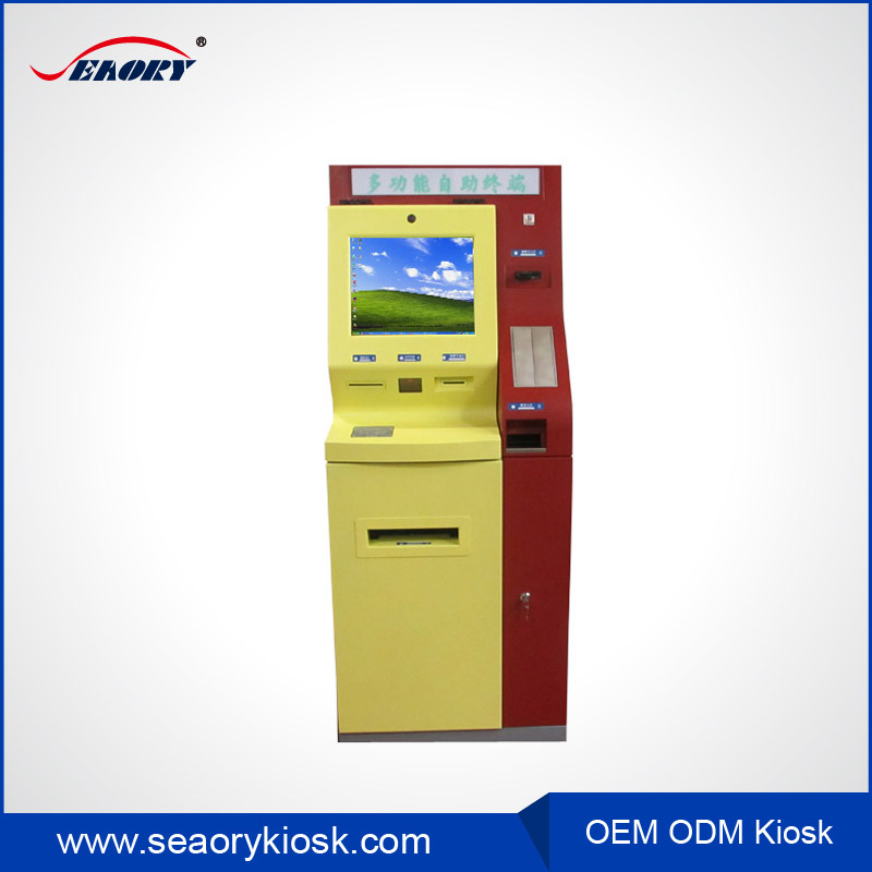Multifunction touchscreen magnetic card/ticket issuing machine kiosk