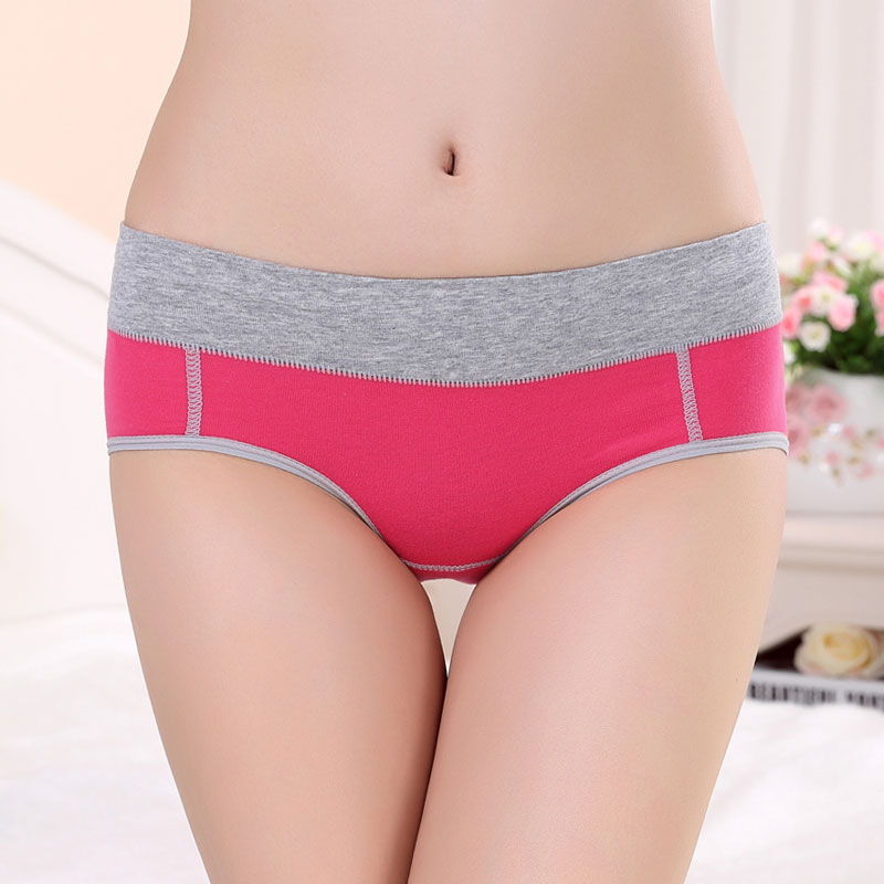 New Arrive Lady Women Under Panties Middle Waist Ladies Cotton Women Underwear Menstrual Period Proof Panties