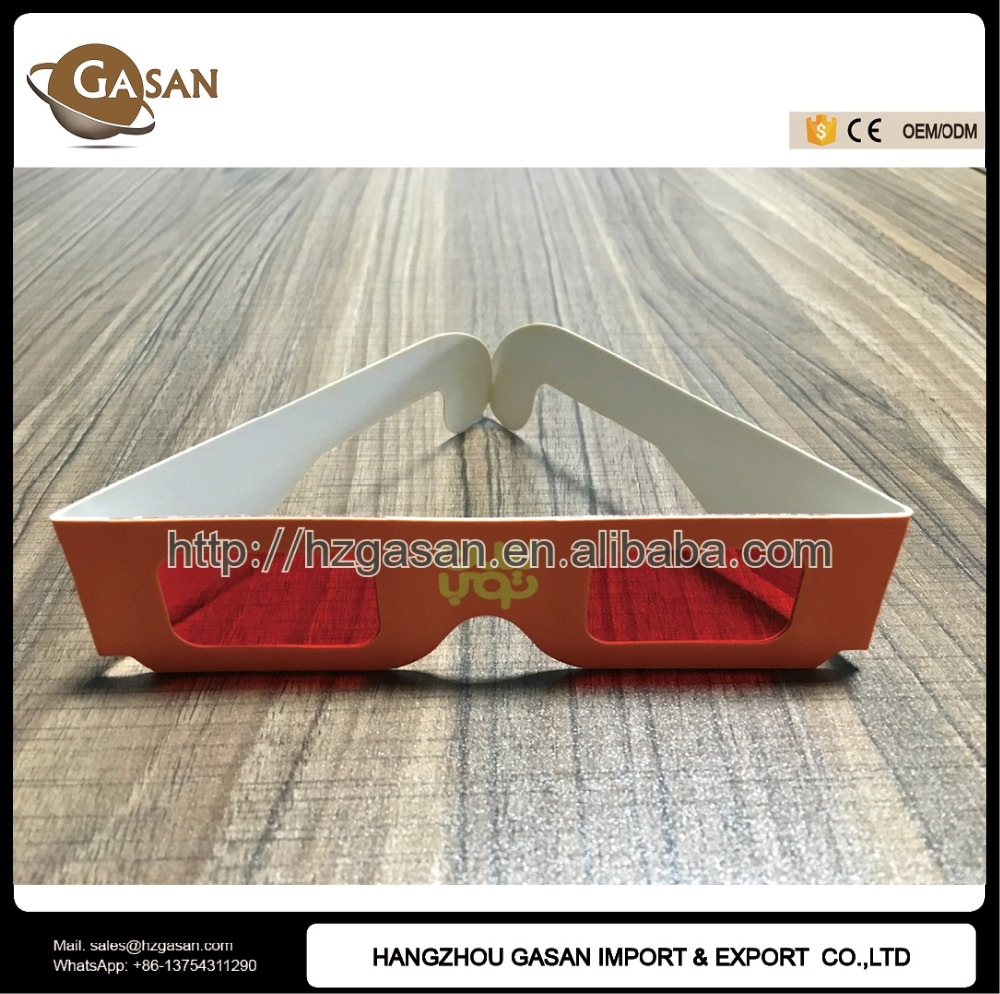 Promotional Paper Red Reveal Paper Red Lens Decode 3d Glasses