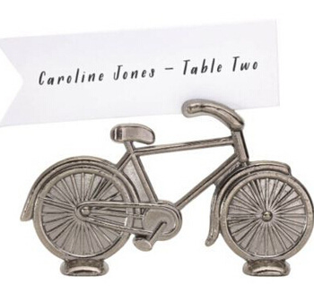 Wedding Party Table Accessories Alloy Bicycle Wedding Card Holder