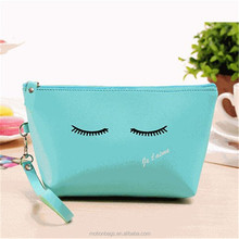 plain logo printing journey pu toiletry bag zipper cute hand bag simple waterproof pu cosmetic bag