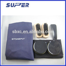 leather case shoe polish kit