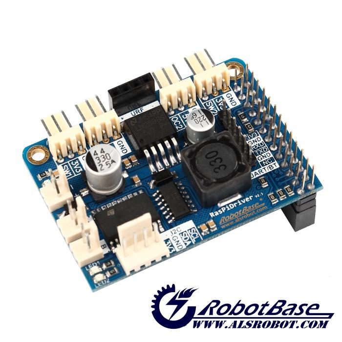 Raspirobot board raspberry pi 2 dc motor driver raspberry for Dc motor raspberry pi