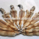 100% Real Tanned Red Fox Fur Skin/ Red Fox Fur Pelt For Garment