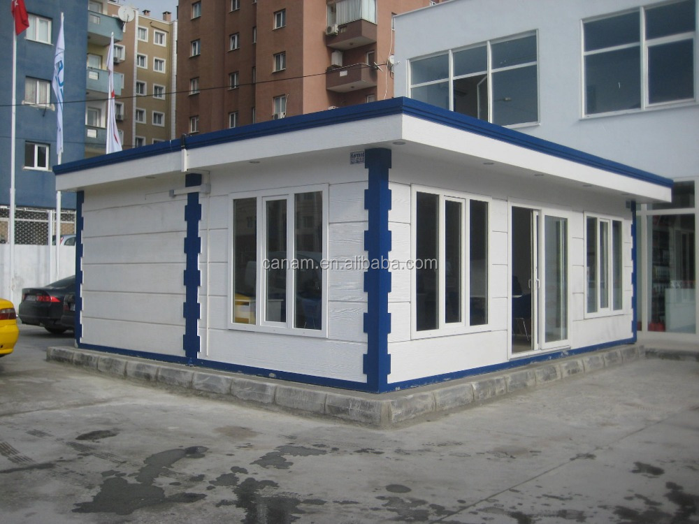 Sandwich panel frame designed police container office plans