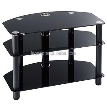 N139 Alibaba China Modern House Black Glass Corner Tv Stands Buy
