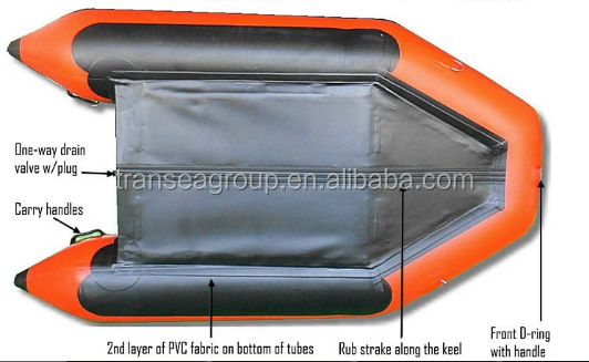 Directly sell inflatable pedal boat with outboard motor