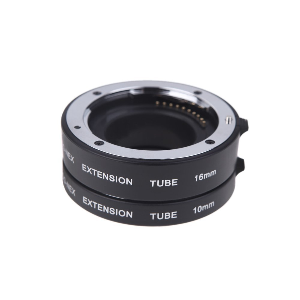 Andoer® AF Auto Focus Macro Extension DG Tube 10mm 16mm Set Ring Metal Mount for Sony E-mout NEX NEX-6 A7R A3000