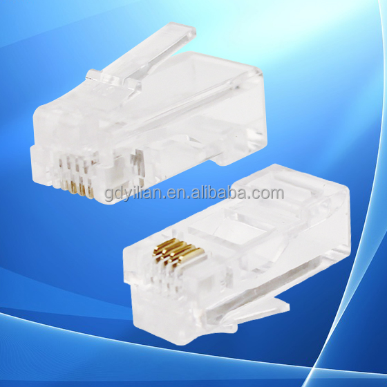2017 bulk sale 4 pin 4 core telephone modular rj9 plug