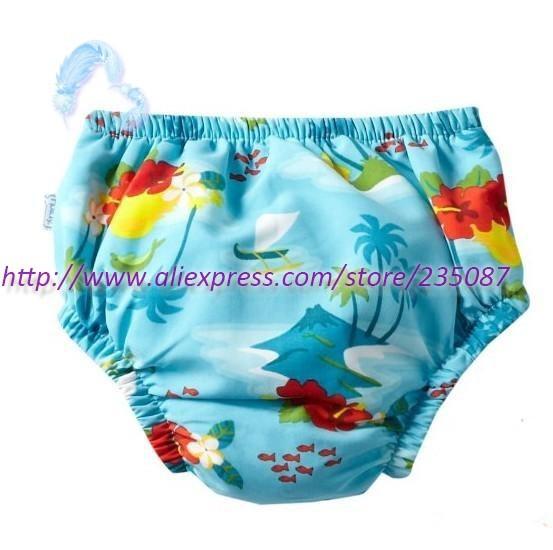 Winsummer Baby Boys Striped Board Surf Beach Shorts with Built in Swim Diaper Swim Trunks Adjustable Waist