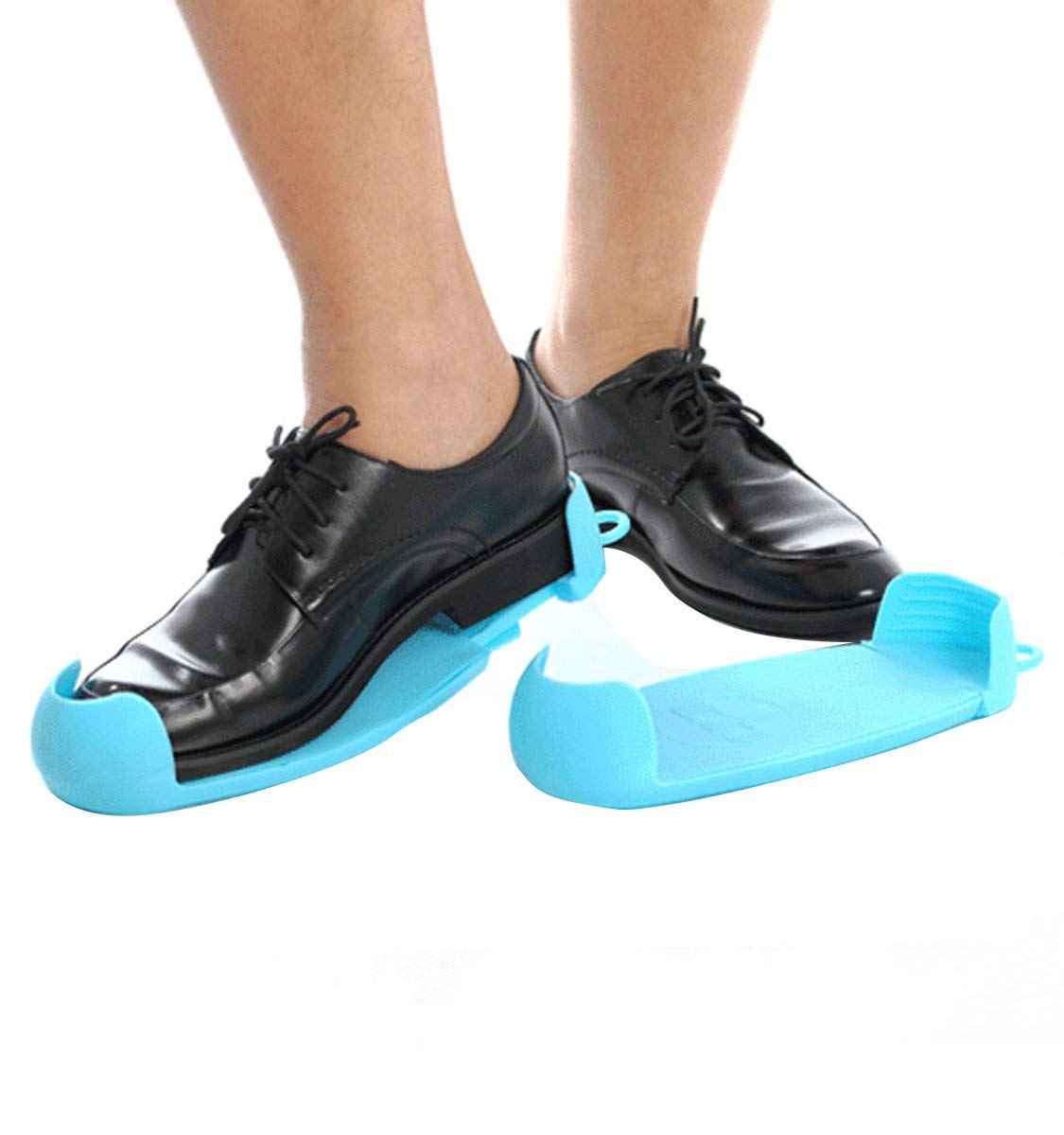 Scaleable Water Resistant Shoe Cover Slip Resistant Reusable Shoe Boot Cover for Men Women, Blue 210-270mm
