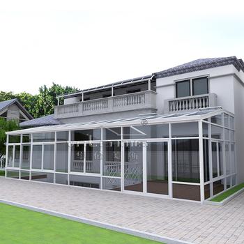 Curved Sunroom Modern Aluminum Glass Green House Sun Room Glass House