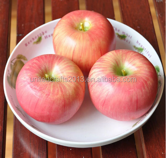 wholesale Artifical fruit apple prices arts and crafts fruit apple for christmas Eve festival promotion gift items