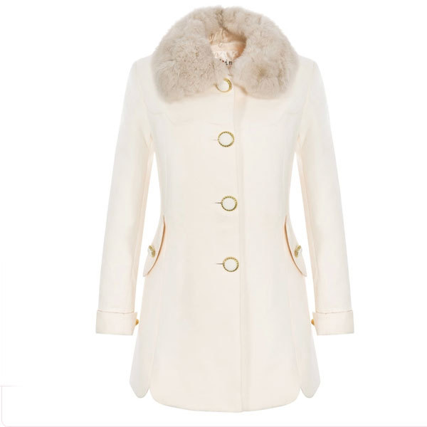 White Wool Womens Coat | Fashion Women's Coat 2017
