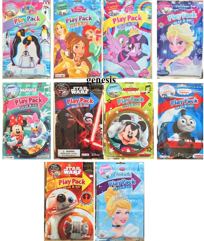 Children's Party Favors Unisex Play Packs Lisa Frank, Star Wars Disney & More