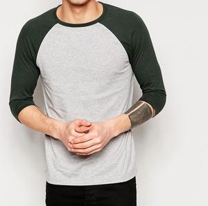 0b5d81d671 Oem Blank Raglan 3 4 Sleeve Baseball T Shirt For Men Wholesale Cheap Custom