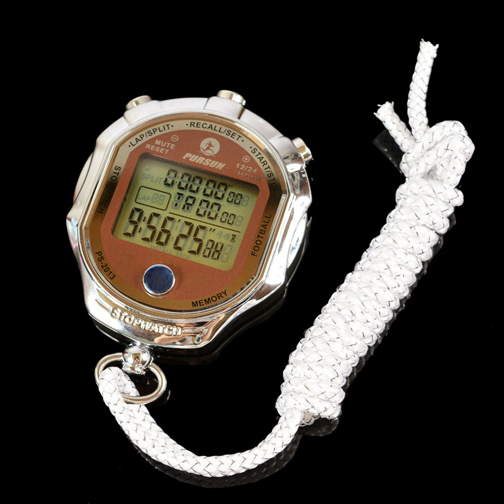 Waterproof Electronic Wireless sports stopwatch Industrial Grade sports timer with LCD display Accuracy 1/1000 second