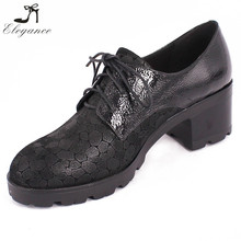 High Quality Unisex Oxford Shoes Men Casual Black Leather Embossed Pattern Lace Up Boat Court Heeled Brogue Shoes