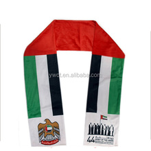 Cheap UAE National Day Fan Scarf UAE Flags Print Scarf