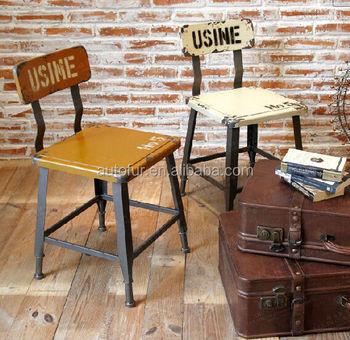high end custom bistro chair classical vintage industrial metal