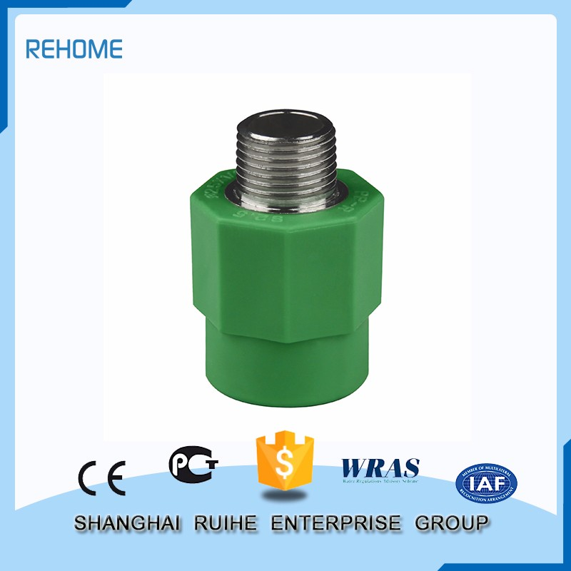 Manufacture good quality Safety and sanitary Male Threaded Coupling ppr pipe fitting plumbing fittings names