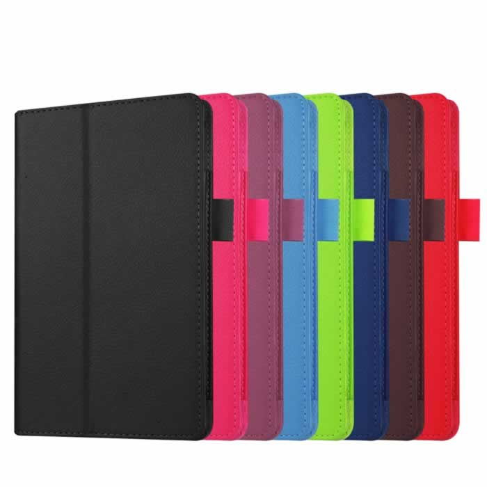 3 in 1 Luxury Litchi Pattern PU Leather Case Cover For Amazon new kindle Fire 7 2015 + Screen Protector + Stylus Free Shipping