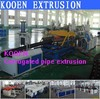 new condition pvc single wall corrugated pipe machine