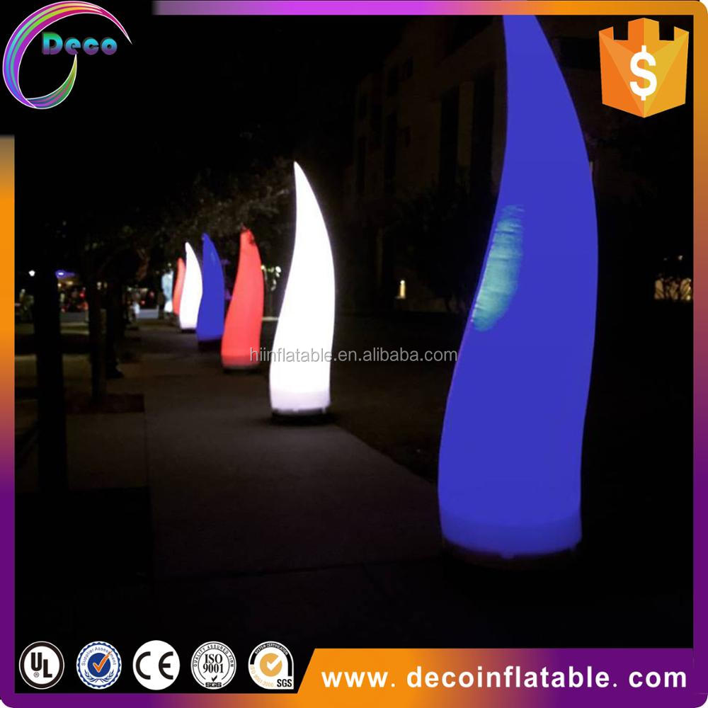 Advertising led inflatable pillar with led light , led balloon pillar stand