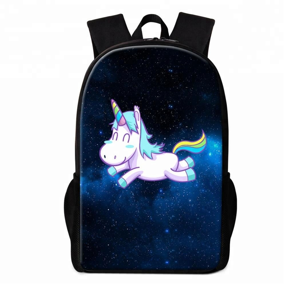 984628b18eaeb6 Studenti di Spalla Bookbag Unicorn Zaino Mochilas Galaxy Zaino della Scuola  per le Ragazze