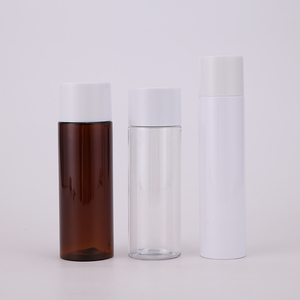 50ml 100ml PET Transparent Facial Toner Bottle with Double Layer Screw Cap