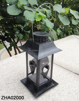 Outdoor Hanging Solar Led Lantern with bird feeder design
