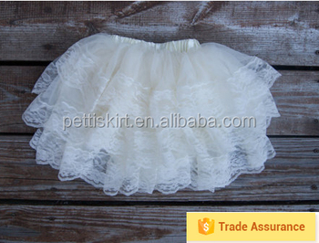 China Manufacturer Wholesale Ivory Lace Tutu Petti Skirt Mini Tutu ...