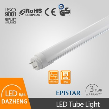 Flexible anti-glare t8 led tube without mercury and UV rays