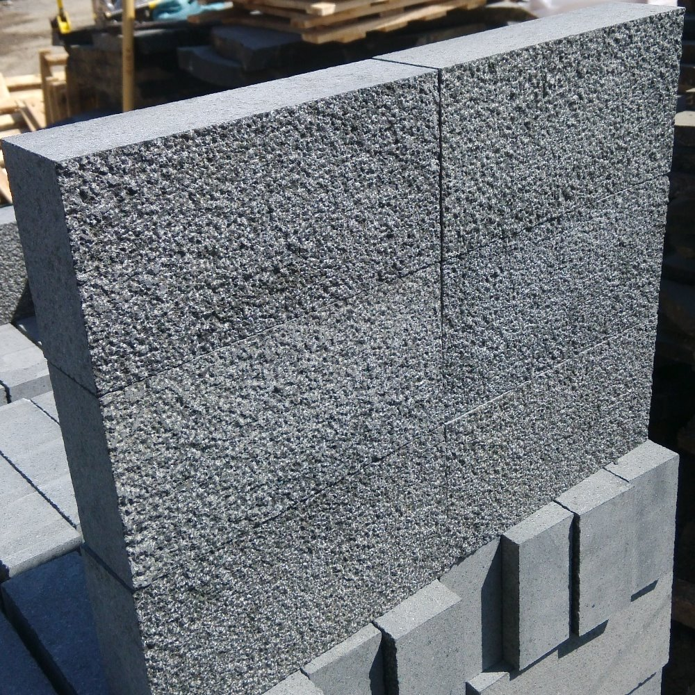 New G684 Bush Hammered Black Granite Paver Stones