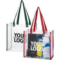 Wholesale customized Vinyl plastic PVC tote bag shopping bag with zipper