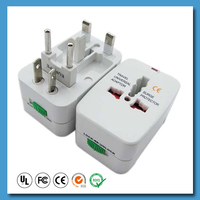 Power plug travel adapter charger for UK USA Europe AU world Universal travel adapter with usb port