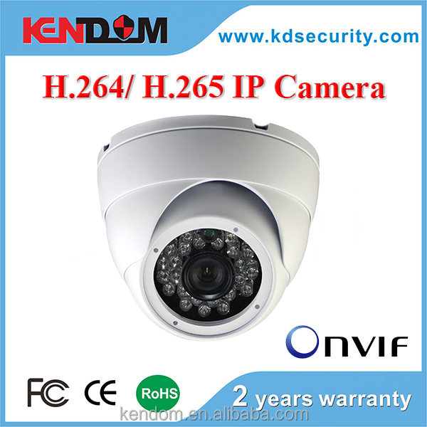 New H.265 encoder 2MP/ 3MP/ 4MP H.265 IP Camera Dome CCTV Security Vandalproof IR Dome with H.265 NVR, p2p, poe